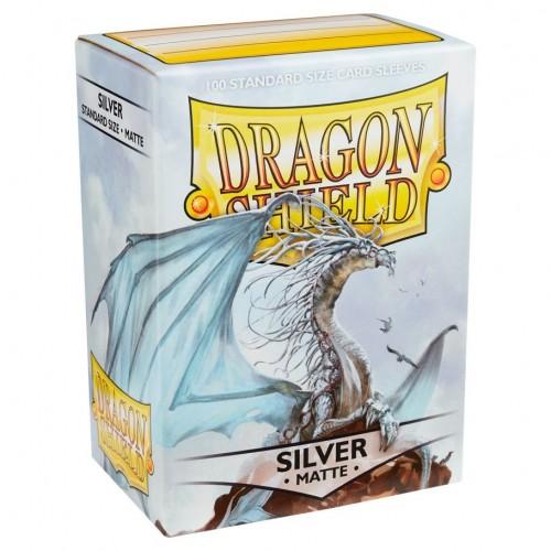 Protector de cartas Dragon Shield 100 - Standard Matte Silver