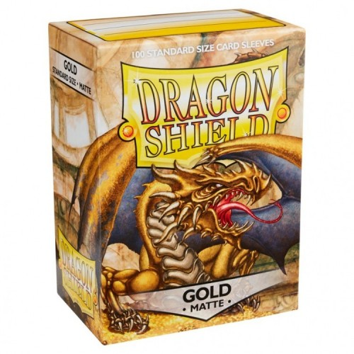 Protector de cartas Dragon Shield 100 - Standard Matte Gold