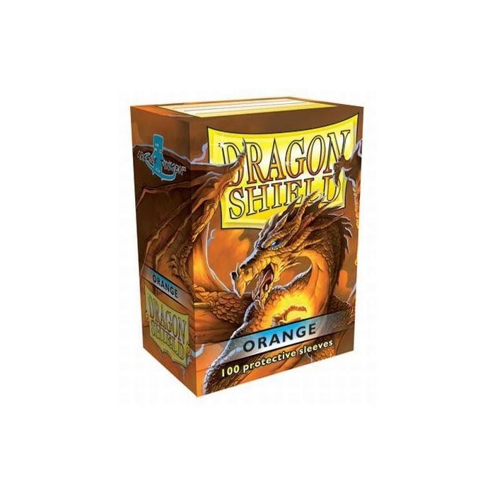 Protector de cartas Dragon Shield 100- Standard Naranjo